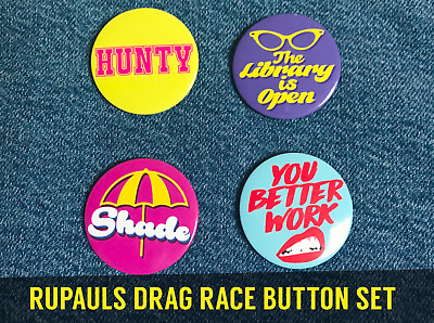 RUPAULS DRAG RACE PINS gift accessory queen lgbt shade gay pride mardi gras