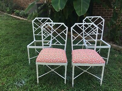 Brown Jordan Faux Bamboo Patio Table and chairs