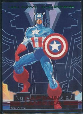 1993 Marvel Masterpieces Trading Card #15 Captain America