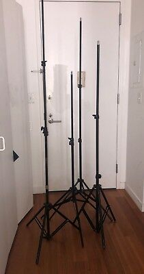 Lot of 4 photography light stands 1 Impact Air  Stand' SLS-LS6 180cm