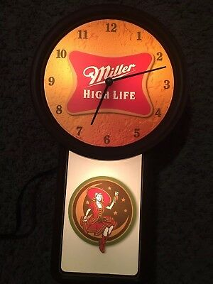 miller high life   it's the high life clock vintage
