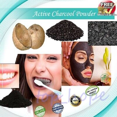 10~500g Bulk Whitening Tooth Powder Organic Activated Coconut Charcoal Powder