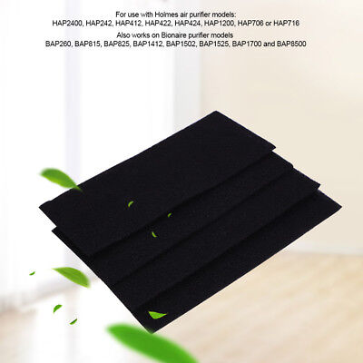 4Pcs Square Universal Activated Carbon Air Filter Sponge Foam Sheet Filter Pad L