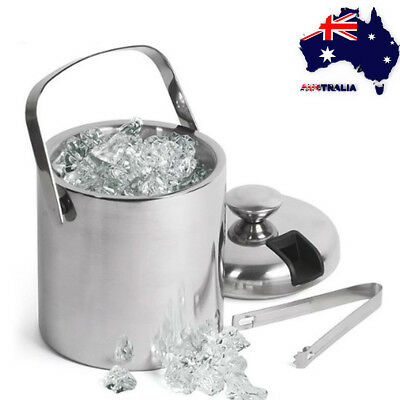 Ice Bucket Container Wine Beer Champagne Cooler Home Party 1.3L With Tongs Lid