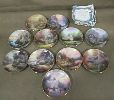 """Thomas Kinkade """"Simpler Times"""" Month's Selling Separated Porcelain Plates."""