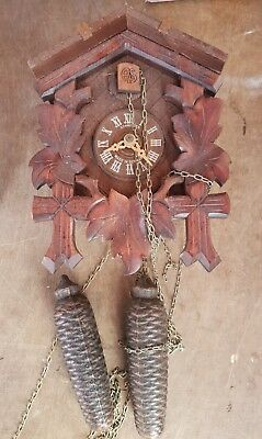 Vintage cuckoo clock for spares or repairs .
