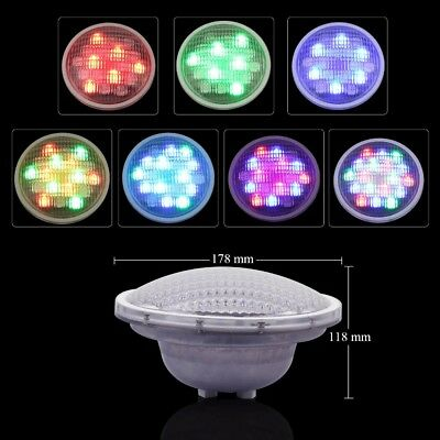 IP68 12V RGB LED Swimming pool light underwater lights PAR56 54W+ Remote Control