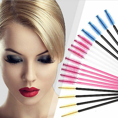 50pcs Disposable Eyelash Brow Mascara Wands Extension Makeup Brushes Applicator