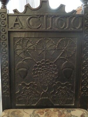 Illustrated in R W Symonds Book RARE 17th Century Carved Oak Chair Panel