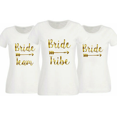 Hen Party T Shirts Hen Do Top Bride To Be Team Tribe Squad Crew Tee