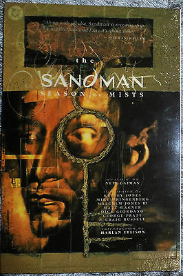 Sandman Season Of Mists Trade Paperback 1St Print Signed Neil Gaiman