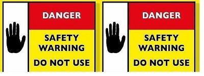 Gas Safety Warning labels of At risk /ID x20....Limited Offer