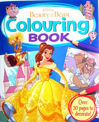 DISNEY PRINCESS Beauty and the Beast Colouring Book over 30 PAGES Art NEW Belle