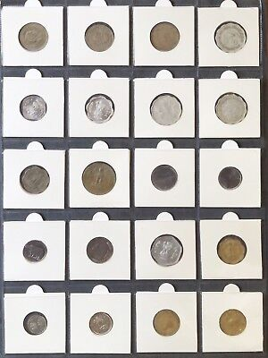 SET of 20 INDIA COINS - 5 Paise to 1 Rupee - very good and some mint condition