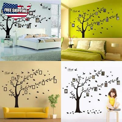 12-PIECE COLLAGE PICTURE Photo Family Tree Frame Set Black Wall Art ...