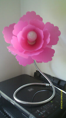 Paloma Pink Flower Table Lamp Bedroom Decorative Adjustable VGC