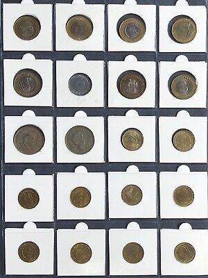 SET of 20 - 5 & 10 Rupee INDIA COINS - Mint condition 17 special ed