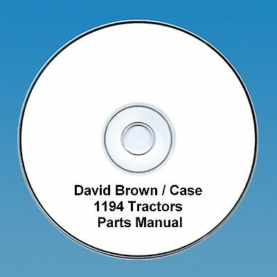 David Brown / Case 1194 Tractors  Parts Manual PDF CD