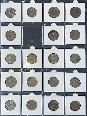 SET of 19 - 1 Rupee INDIA COINS - good condition all special editions