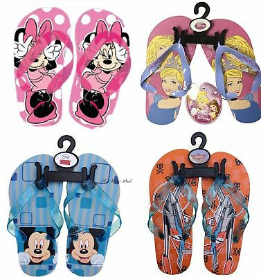 Disney Flip Flops Princess Mickey Minnie Mouse Sandals Slippers Girls & Boys