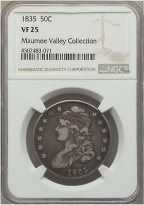 """1835 Half Dollar   NGC VF25  """"Maumee Valley Collection"""""""