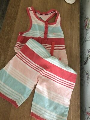 Mantaray Girls Striped Play suit Jumpsuit  Age 5-6 Years