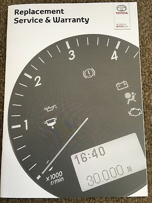 GENUINE TOYOTA AURIS Service History Record Book NEW BLANK