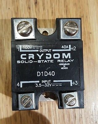 Crydom SSR D1D40 Solid State Relay Out: 40 A Amp 100 VDC, In: 3.5 V - 32 Volt DC