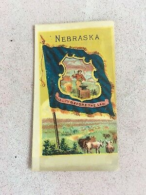 1885 C F Sauers Flavoring Extracts States Of America Card Nebraska  Excellent !!