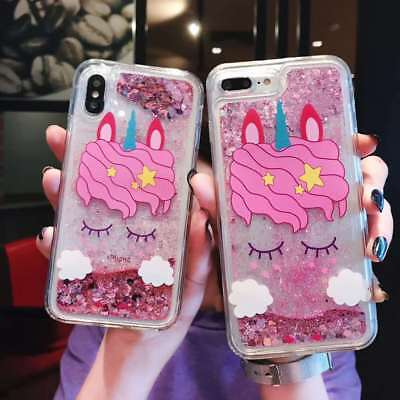 Hot New Cute Unicorn Quicksand Phone Case Cover Skin For iPhone 6 6s 7 8 X Plus