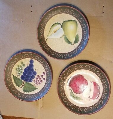 Set of 3 home interior sonoma villa collection fruit plates