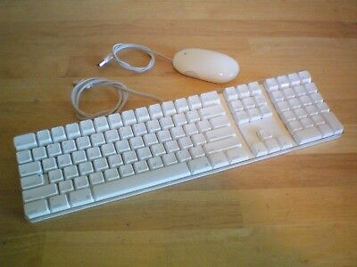 Apple ~ SUPER CLEAN ~ A1048 White Wired USB Keyboard & A1152 Wired Mighty Mouse