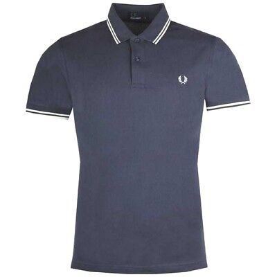 Fred Perry Men's Tipped Polo Shirt M3600,Dark Airforce, Mod,Soul,Ska,Scooter,