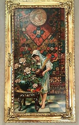 Antique Oil Painting Victorian After English Orientalist Painter W S Coleman