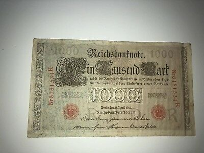 Reichsbanknote 1000 Mark 21.04.1910