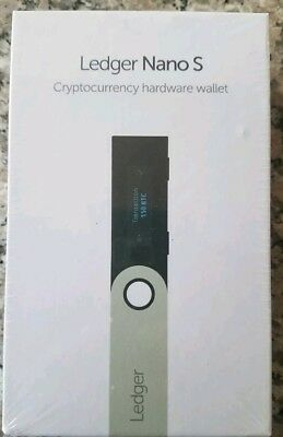 Ledger Nano S Cryptocurrency Hardware Wallet BRAND NEW FACTORY SEALED!