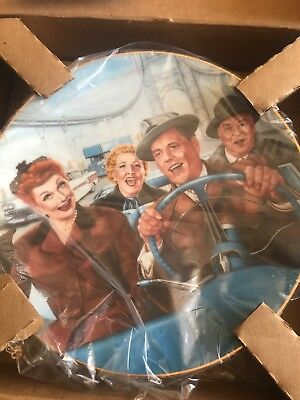 "I LOVE LUCY ""California Here We Come"" Collectors Plate LE Hamilton Collection"