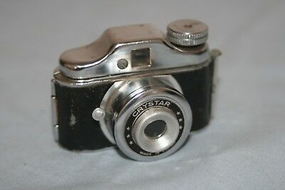 Crystar Vintage Miniature / Spy Camera + Case - Good Condition - Fully Working
