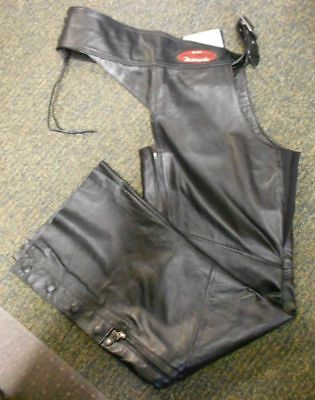 Harley Davidson Women's Classica Black Leather Chaps 98026-12VW Size XL