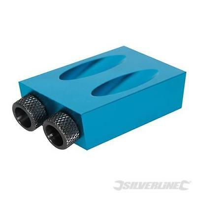 Silverline Pocket-Hole Jig Carpenters Joint Tool 6, 8 & 10mm 868549