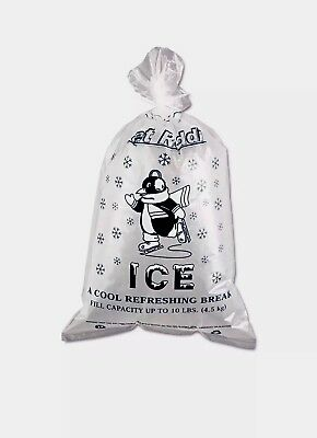 ONLY $15.50 - 100 Pack Ice Bags • 10 Lbs Capacity • Ties Incl.