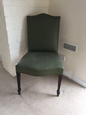 Old Leather Desk Chair - Green Leather - Attractive shape & style