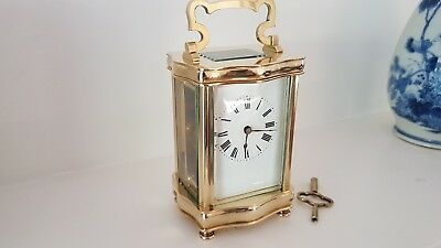 Antique Carraige Clocks French, Serpentine design.1885/1910Cleaned and Serviced.