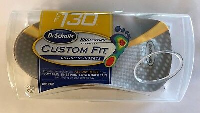 New Dr Scholl's Cf130 Custom Fit Orthotic Insoles 1 Pair Footmapping Cf 130 3/4