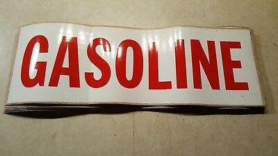 Huge lot of 30 GASOLINE pump stickers/decals, nice conditon