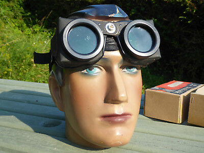Vintage Sifbronze ''catseye'' Gas Welding / Brazing Goggles Steampunk Style