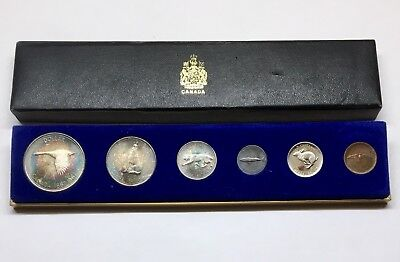 1967 Expo Canada Centennial Complete Mint Coin Set - Rainbow Toning