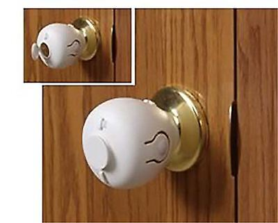 Mommy Helper Door Knob Lock Child Baby Safety Covers 2 New Free Shipping