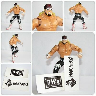 WWE WCW Wrestling NWO Hollywood Hulk Hogan Toy Figure with Signs