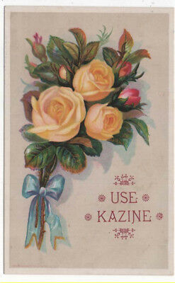 KAZINE Soap Trade Card, Pretty Yellow and Red Roses